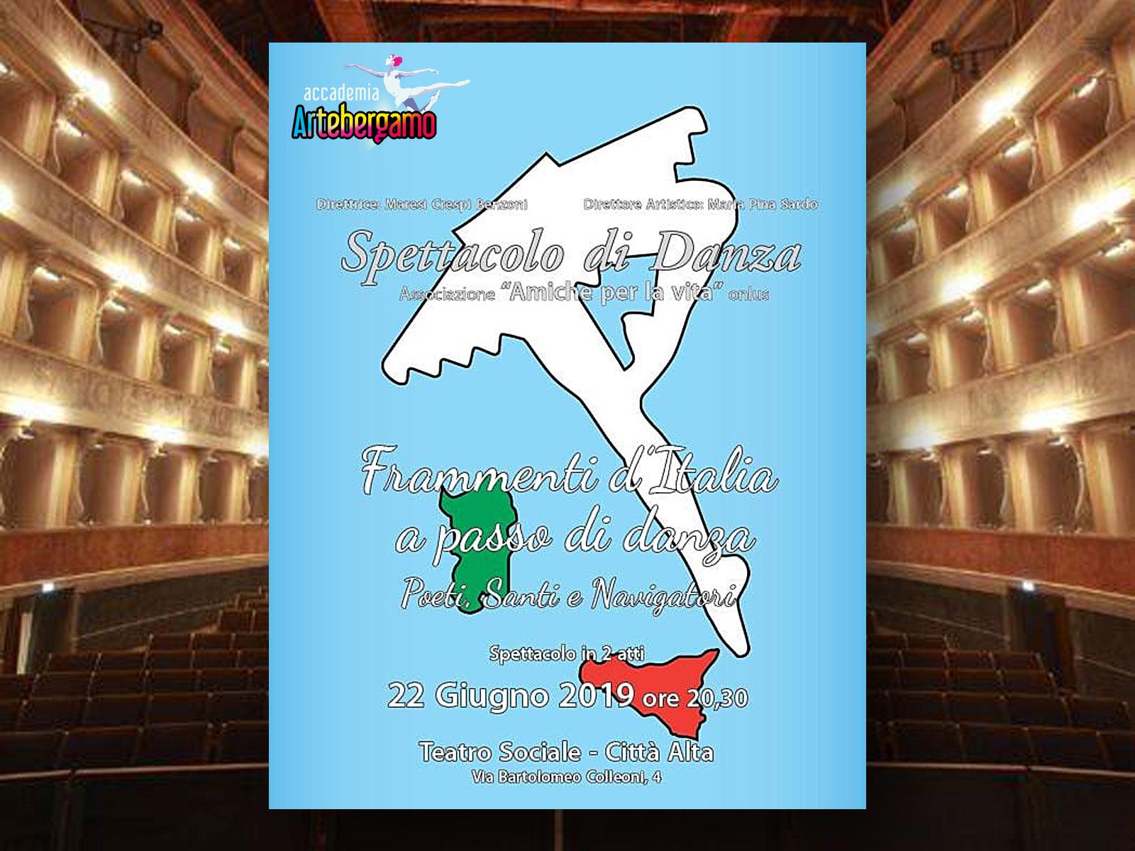 ACCADEMIA ARTE BERGAMO - Spettacolo fine anno - Teatro Sociale 22 giugno 2019